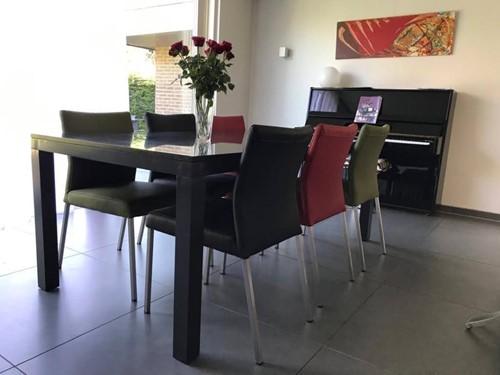 Set van 6 leren eetkamerstoelen - diverse kleuren leer