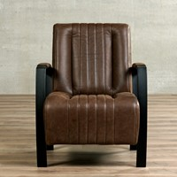 Leren fauteuil Glamour-48