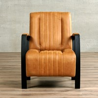 Leren fauteuil Glamour-51