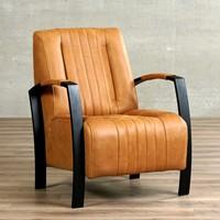 Leren fauteuil Glamour-53
