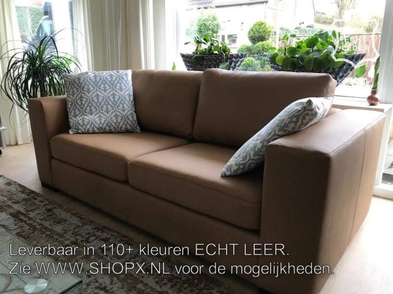 Rode Leren Design Bank.Leren 2 Zits Bank Met Houten Poten Rood Leer Shopx