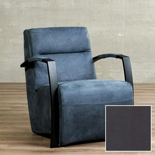 Leren fauteuil Arrival - Granada leer Graphite - Frame zwart