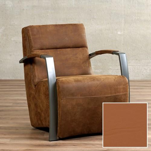 Leren fauteuil Arrival - Hermes Leer Cognac - Frame antraciet