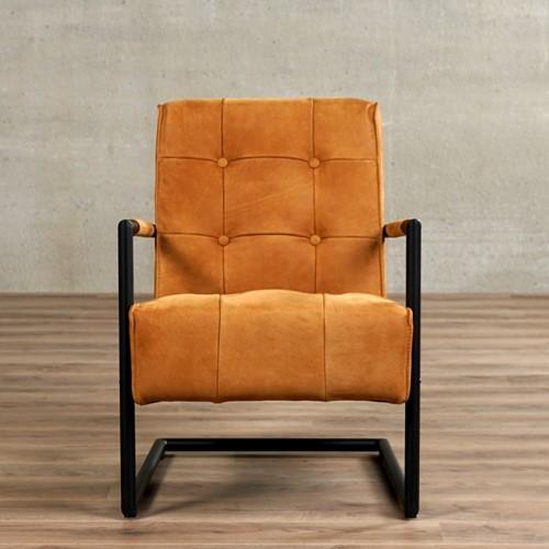 Leren fauteuil Base met sledepoot-2