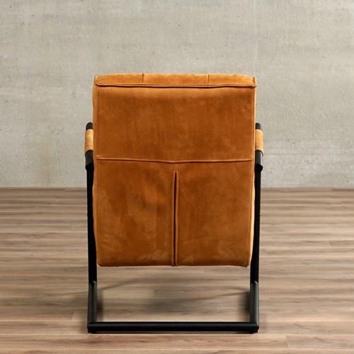 Leren fauteuil Base met sledepoot-3