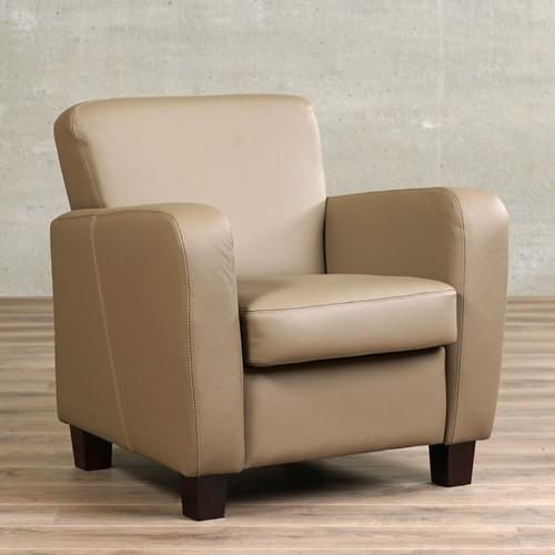 Leren fauteuil Believe - Toledo Leer Mocca - Hout - Bruin