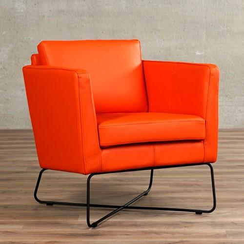 Leren fauteuil Crossover - Toledo Leer Orange