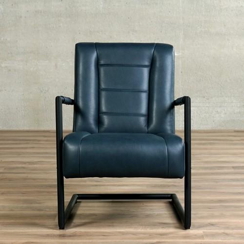Leren fauteuil Dream - Granada leer Blue met sledepoot-2