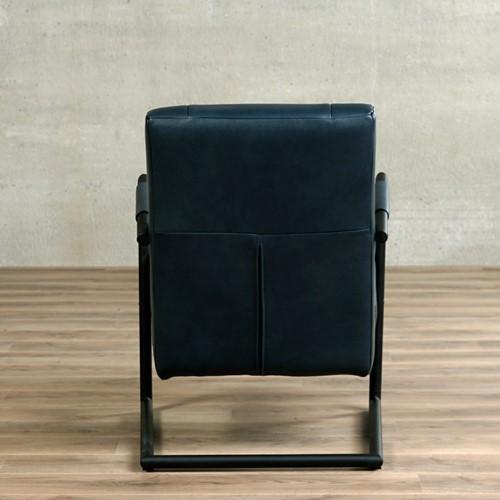 Leren fauteuil Dream - Granada leer Blue met sledepoot-3