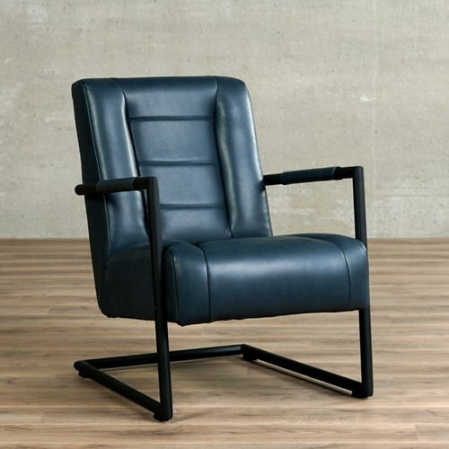 Leren fauteuil Dream - Granada leer Blue met sledepoot