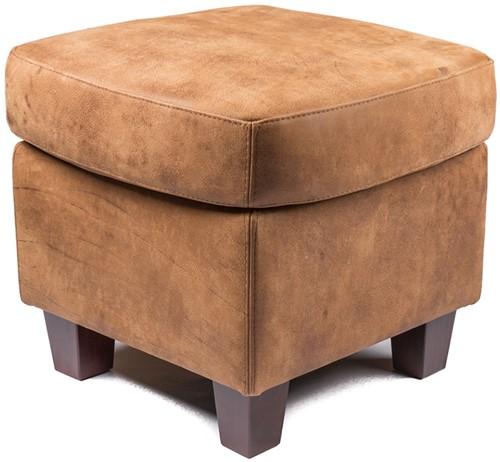 Hocker - gestoffeerde fauteuils (dezelfde bekleding als fauteuil) - ca. 50x50x45cm