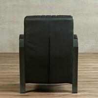 Leren fauteuil Glamour - Toledo Leer Antracite - Frame grijs-3