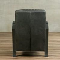 Leren fauteuil Glamour - Vintage Leer Grey - Frame grijs-3