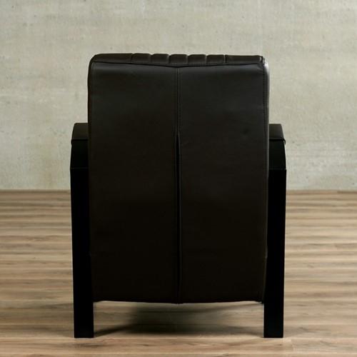 Leren fauteuil Glamour - Toledo Leer Caffe - Frame zwart-3
