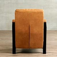 Leren fauteuil Glamour - Vintage Leer Cognac - Frame zwart-3