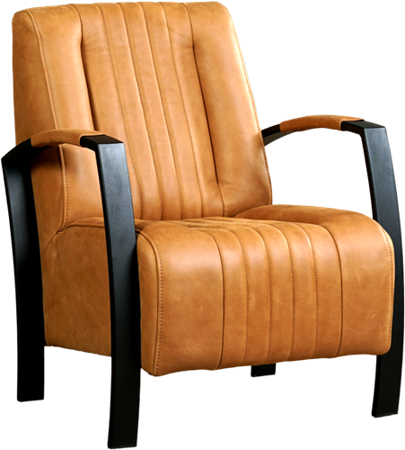 Leren fauteuil Glamour