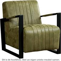 Leren fauteuil Jolly