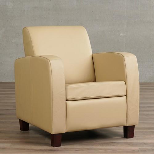 Leren fauteuil Joy - Toledo Leer Kalahari - Hout - Bruin