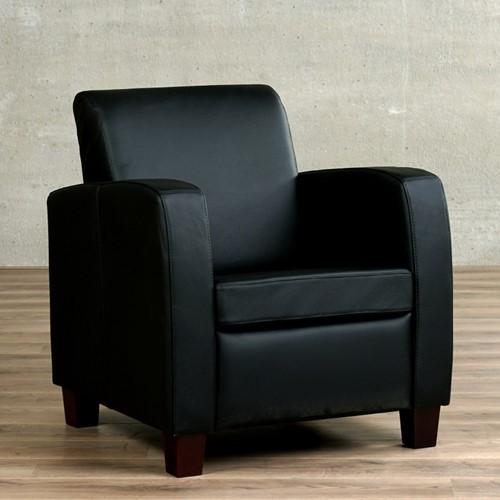 Leren fauteuil Joy - Toledo Leer Nero - Hout - Bruin