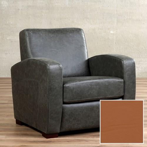 Leren fauteuil Kindly - Hermes Leer Cognac - Hout - Bruin