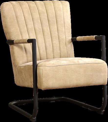 Leren fauteuil Lazy met sledepoot