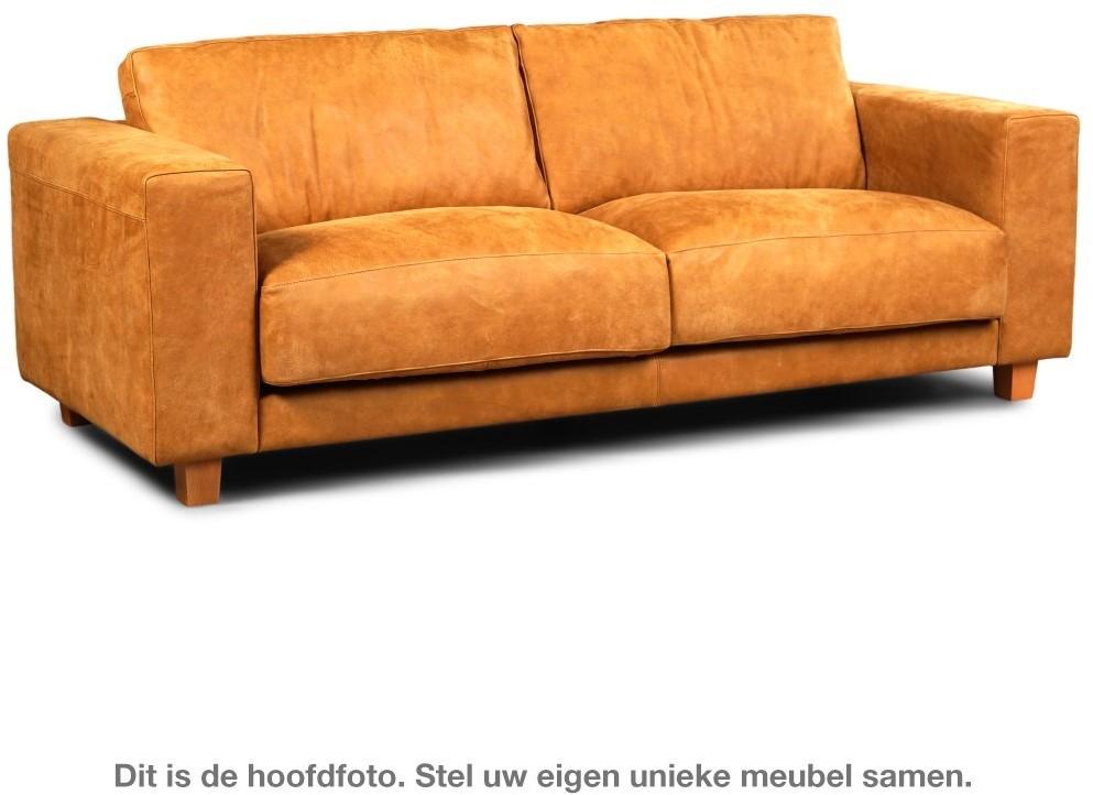 Zwart Leren Bankstel Design.Leren Bank Clear 3 Zitsbank Rancho Leer Cognac Staal Design