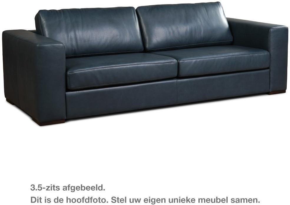 Leren Bankstel 2 En 3 Zits Zwart.Leren Bank Flow 2 Zitsbank Vintage Leer Cognac Hout Zwart