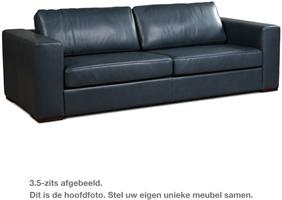 Hoekbank Leer Blauw.Leren Bank Flow 2 Zitsbank 174x100cm Shopx