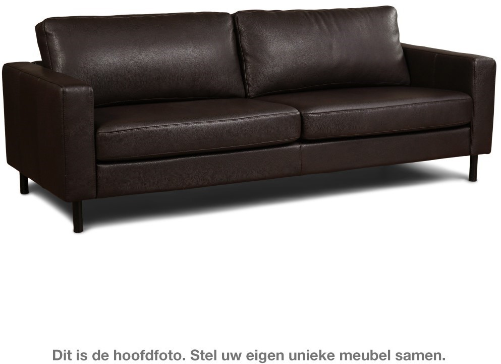 Strakke Moderne Leren Bank.Leren Bank Match 3 5 Zitsbank 234x90cm