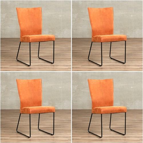 Leren eetkamerstoel Mate - set van 4 stoelen - Kenia Leer Rost design U-poot