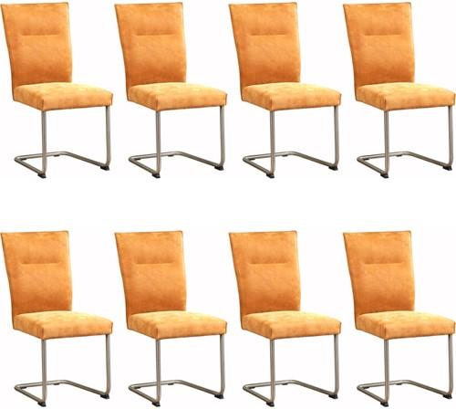 Leren eetkamerstoel Retro - set van 8 stoelen