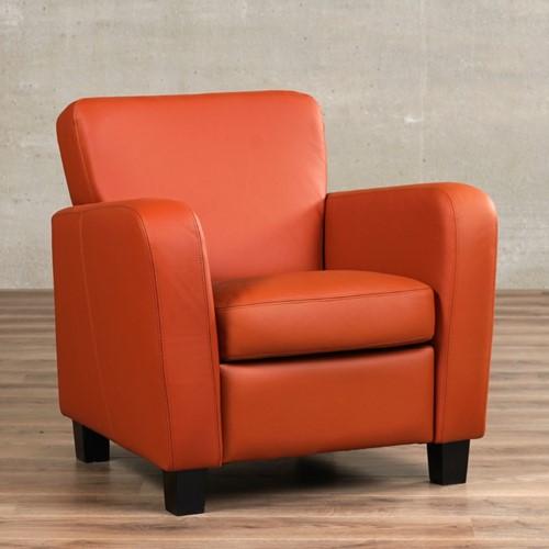Leren fauteuil Believe - Toledo Leer Cotto - Hout - Zwart