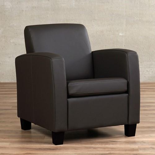 Leren fauteuil Joy - Toledo Leer Caffe - Hout - Zwart