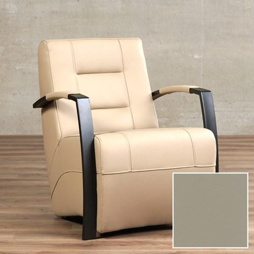 Leren fauteuil Magnificent - Massif Leer Dove - Frame zwart