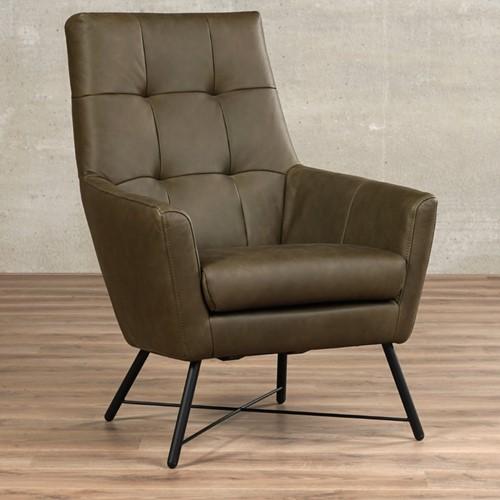 Leren fauteuil Proud - Rancho Leer Green