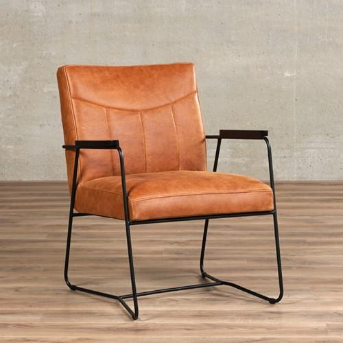 Leren fauteuil Right - Vintage Leer Cognac