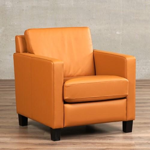 Leren fauteuil Smart - Toledo Leer Sabbia - Hout - Bruin
