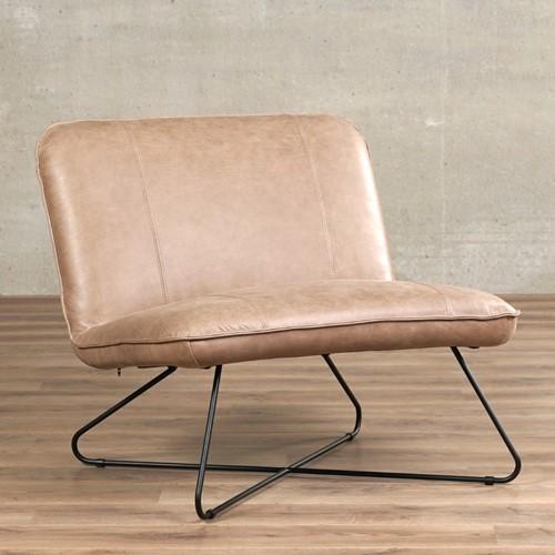 Leren fauteuil zonder armleuning Smile - Vintage Leer Taupe