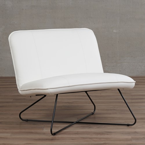 Leren fauteuil zonder armleuning Smile - Toledo Leer Purewhite