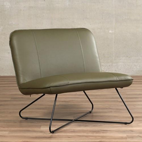 Leren fauteuil zonder armleuning Smile - Massif Leer Olive