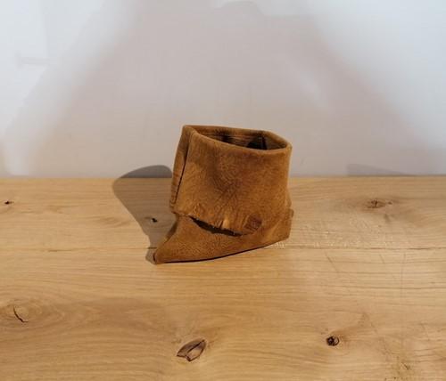 Leren decoratie zakje - Kenia Leer Walnut handgemaakt