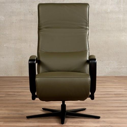 Leren relaxfauteuil Matrix met geintergeerd voetenbank-2
