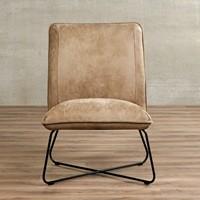 Leren fauteuil Less - Kenia Leer Taupe-2