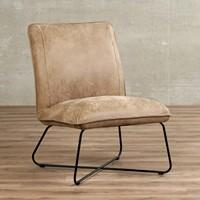 Leren fauteuil Less - Kenia Leer Taupe