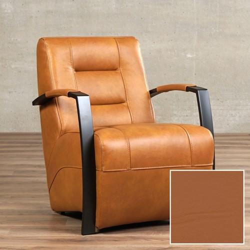 Leren fauteuil Magnificent - Hermes Leer Cognac - Frame grijs