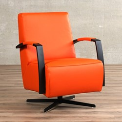 Design Leren Draaifauteuil.Leren Draaifauteuil Mood Shopx