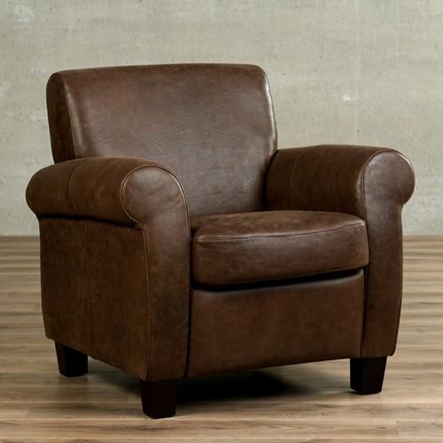 Leren fauteuil Perfection - Vintage Leer Brown - Hout - Zwart