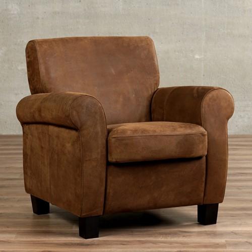 Leren fauteuil Perfection - Kenia Leer Brown - Hout - Bruin