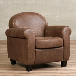 df7760b6048 Leren fauteuil Roommate - Vintage Leer Brown - Hout - Bruin
