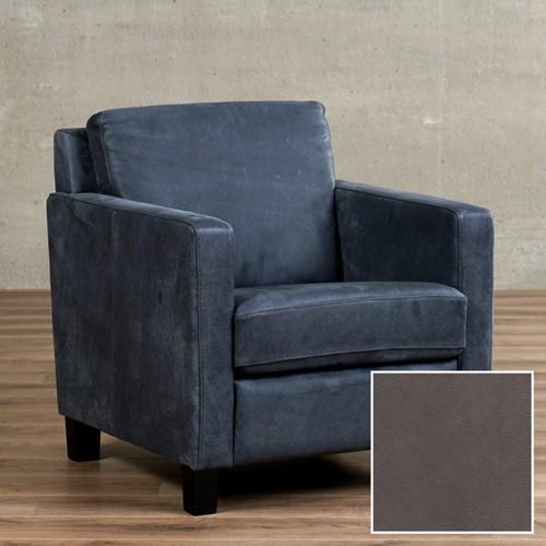 Leren fauteuil Smart - Granada leer Ash - Hout - Zwart